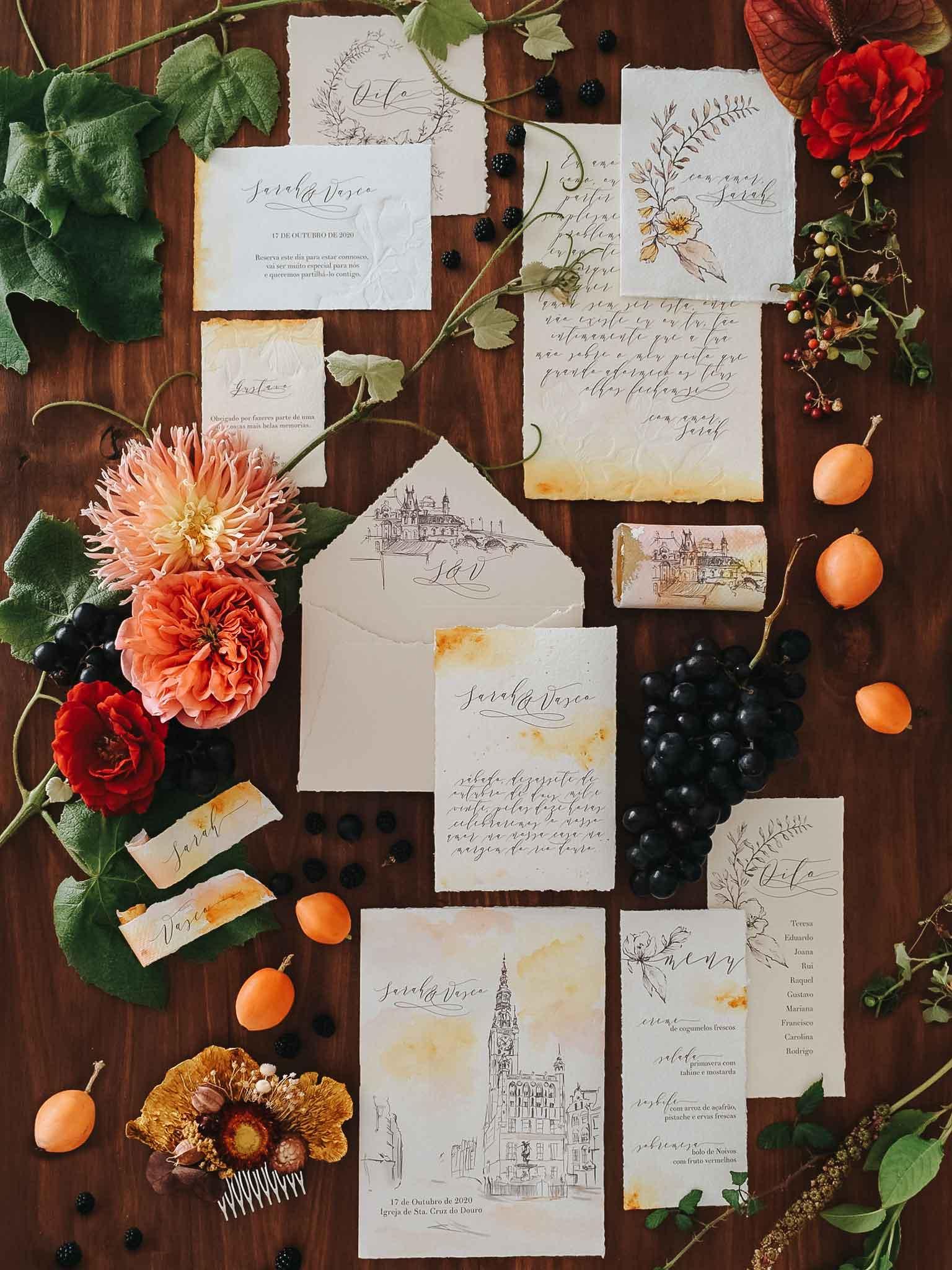 estacionario-de-casamento-pintado-a-mão-por-A-Pajarita