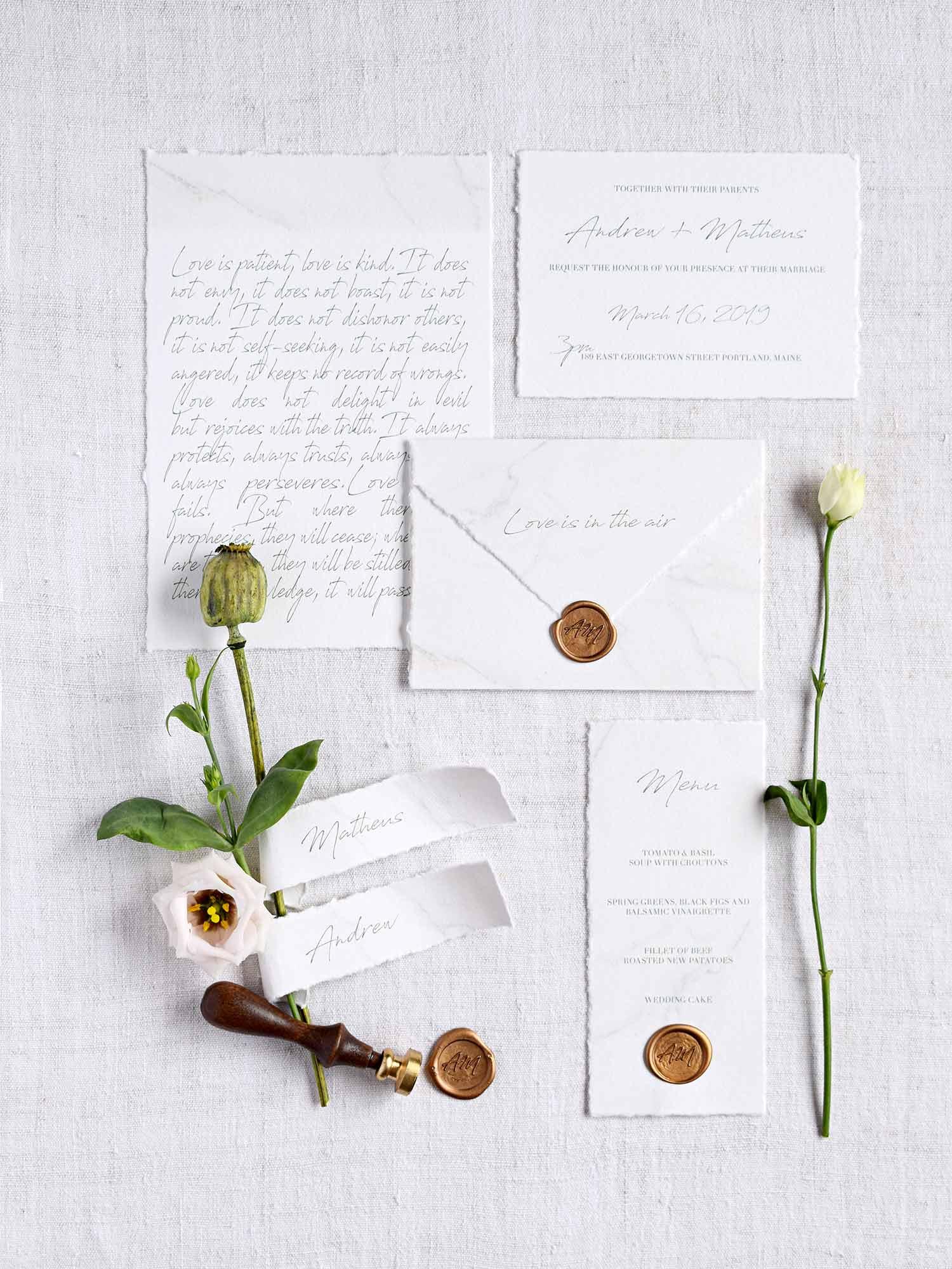 estacionario-de-casamento-em-papel-de-algodao-por-A-Pajarita