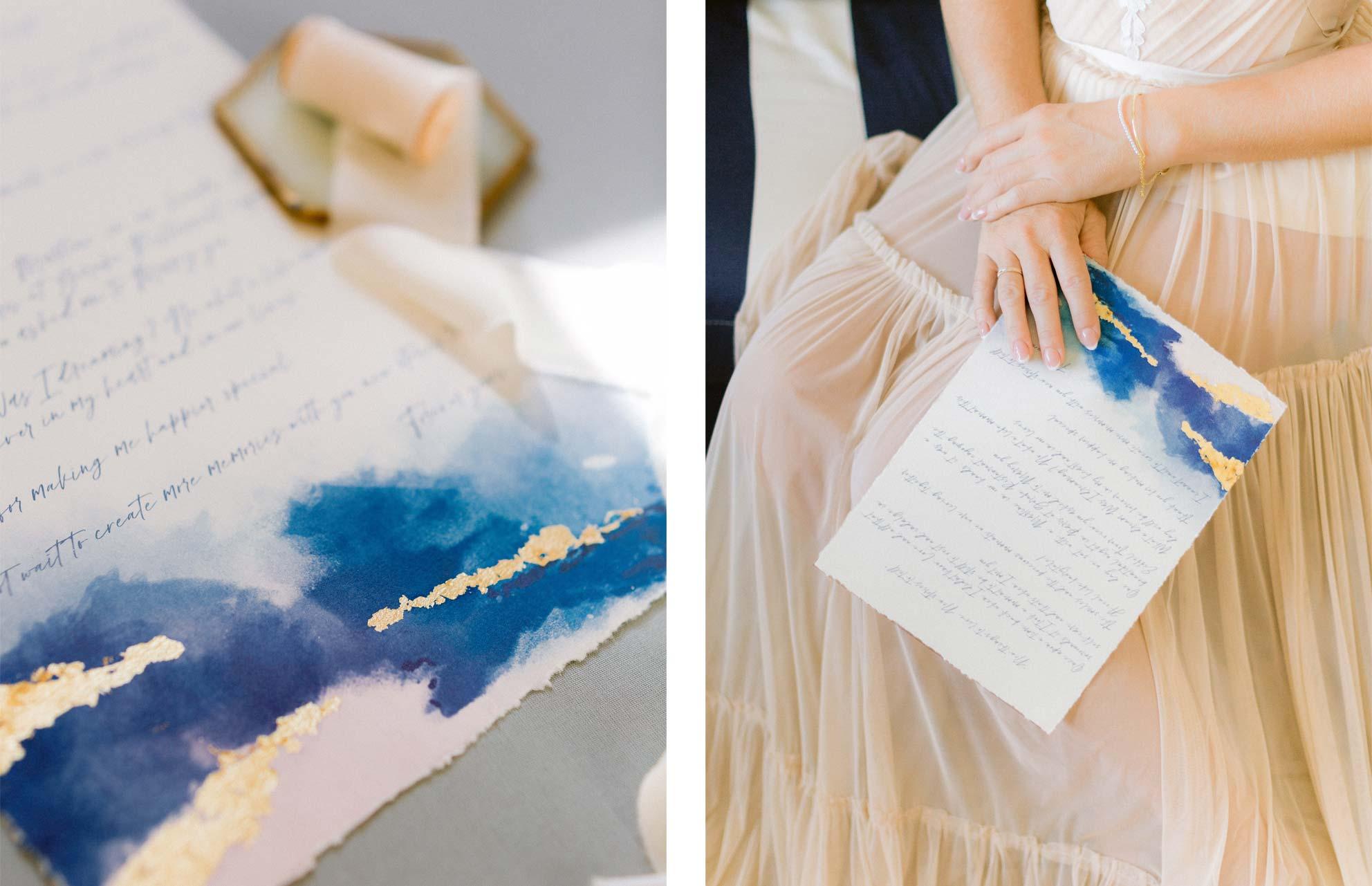 votos-de-casamento-em-azul-e-ouro