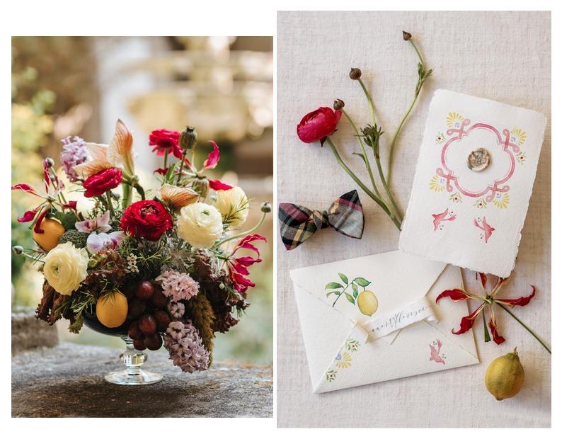 a-pajarita-convites-de-casamento-estacionário-e-flores