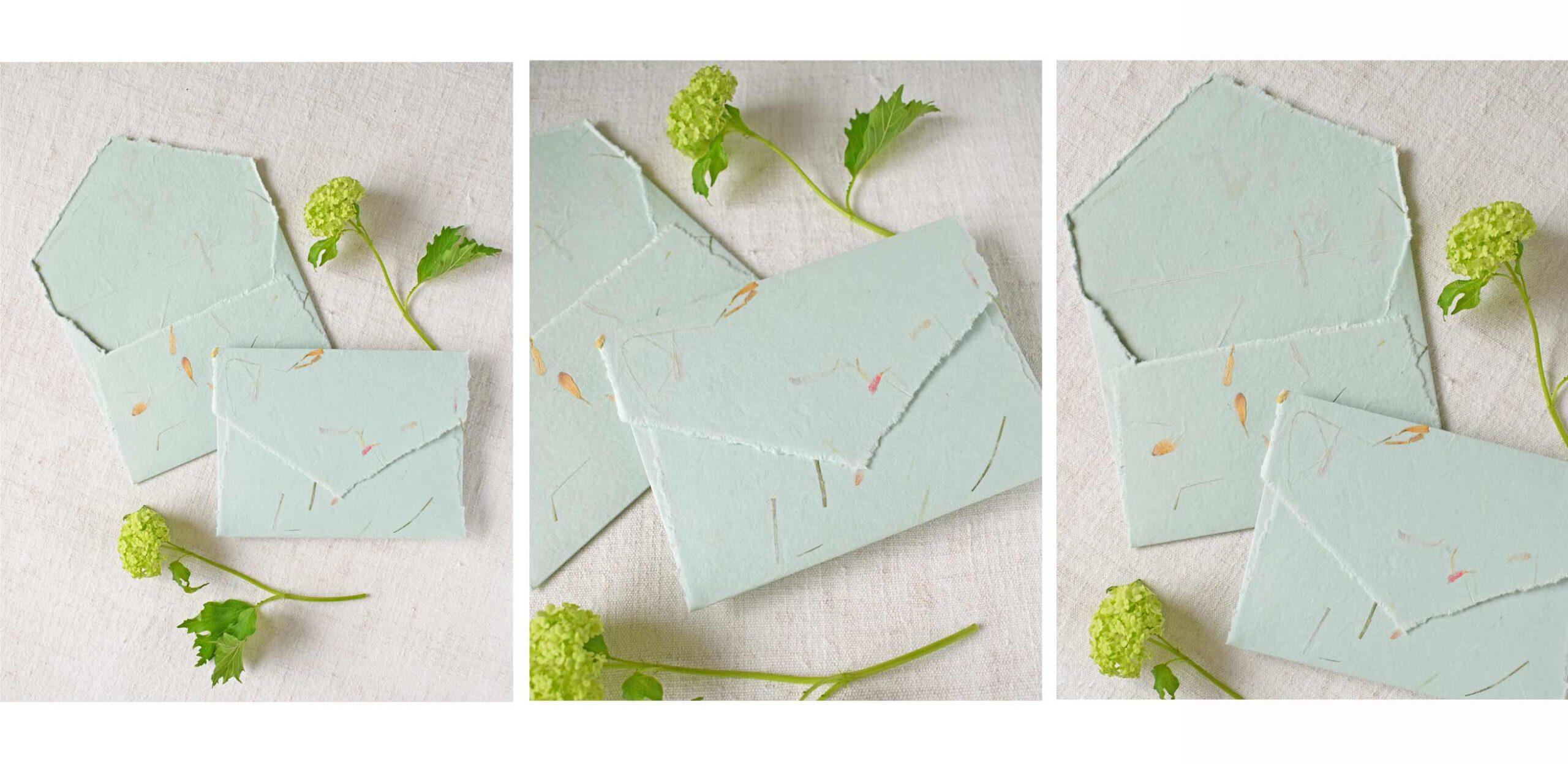 envelopes-papel-manual-verde